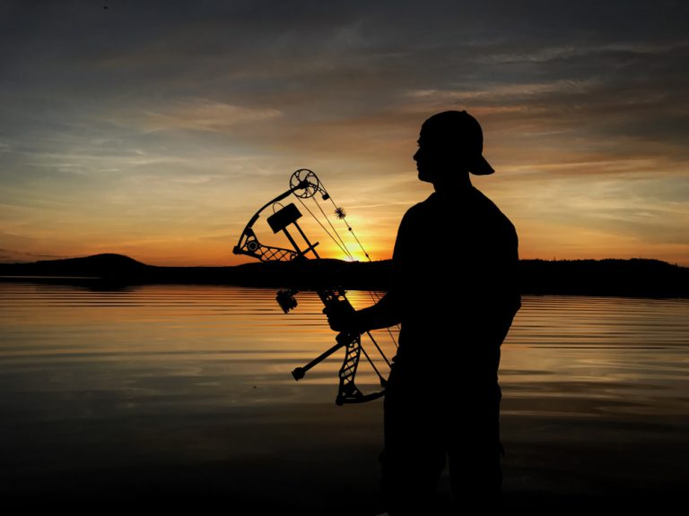 Sunset for a bow hunter by Terry Bergey