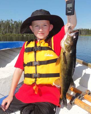 Doug Hood's son on Little Gouin great catch great kid!