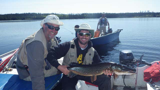 Patrick Cleroux on Super Lake A great Pike trophy