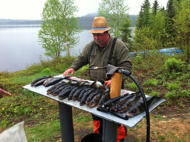 Walleye and pike fishing trophy for Elviss's Groupon Super Lake