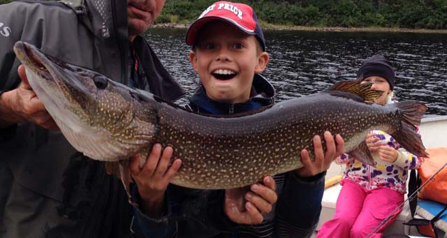 Tyler Brossard The smile bigger than the pike!