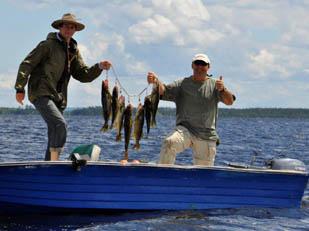Bob Decampli and son fishing...