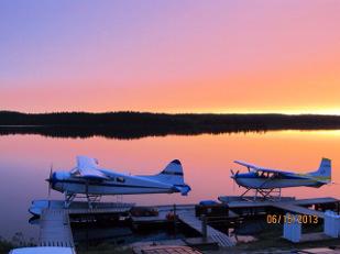 Clova's seaplane base by Michael Ryan