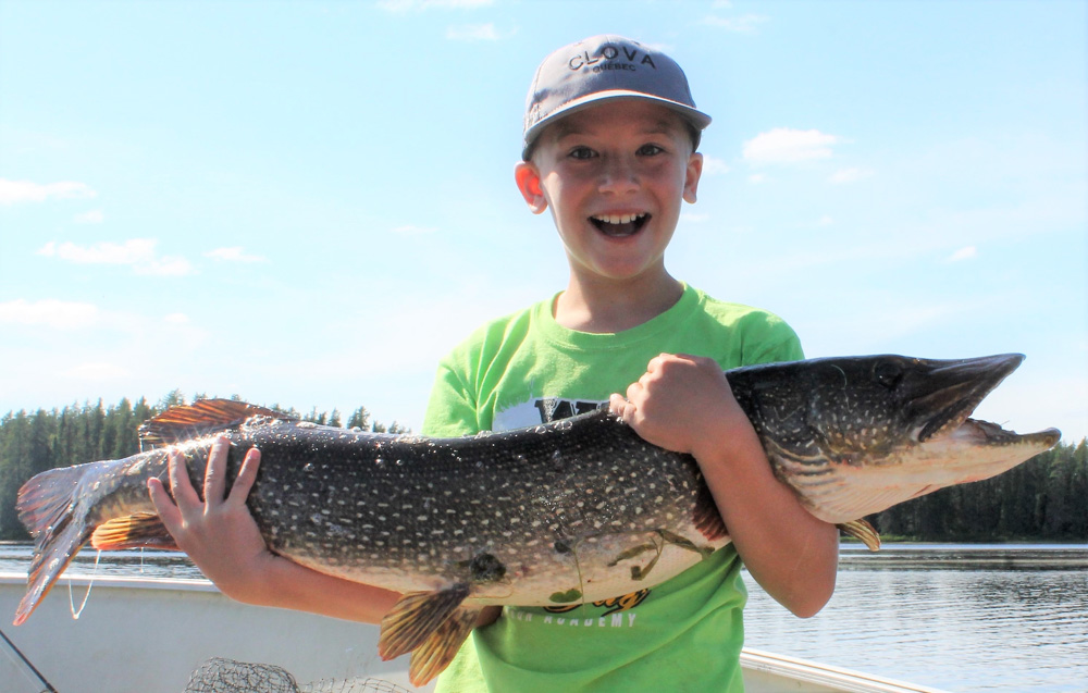 42 1'2'' Pike caught at Anita's cabin by Tom Miller's son,10 years old !