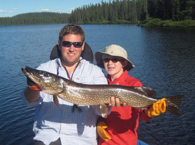 Scilingo's Brothers on Impossible lake Another Pike trophy!
