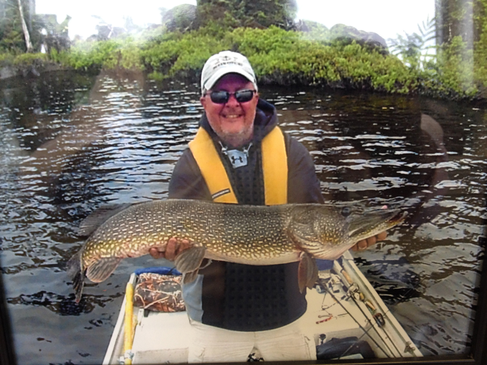 Lou Delaney with a pike 43 inches long at reservoir Gouin 3!